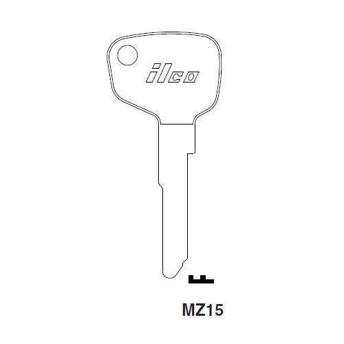 Ilco MZ15 Key Blank : Mazda