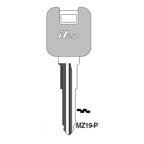 Ilco  MZ19-P Mazda Plastic Head Key Blank; ( MZ19,  X201 )
