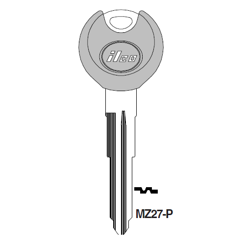 Ilco  MZ27-P Mazda Plastic Head Key Blank; ( MZ27,  X222 )