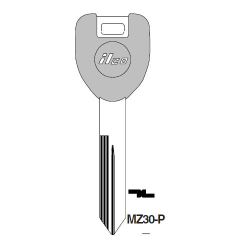 Ilco  MZ30-P Mazda Plastic Head Key Blank; ( MZ30,  X247 )