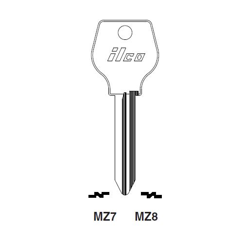 Ilco MZ8 Key Blank : Mazda
