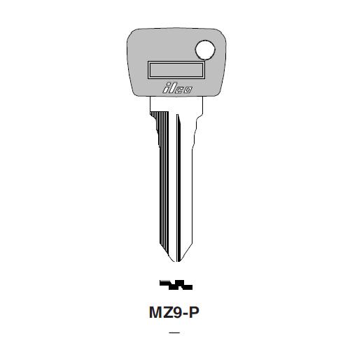 Ilco  MZ9-P Ford, Mazda Plastic Head Key Blank; ( MZ9,  X26 )