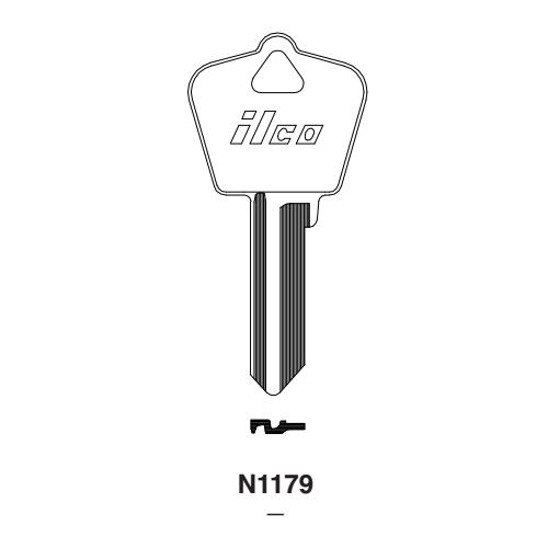 Ilco N1179 Key Blank : Almet, Arrow - K3
