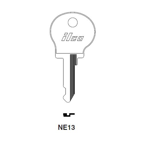 Ilco NE10 Key Blank : Fiat, Renault