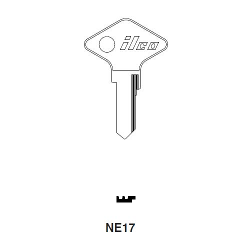 Ilco NE17 Key Blank : Renault
