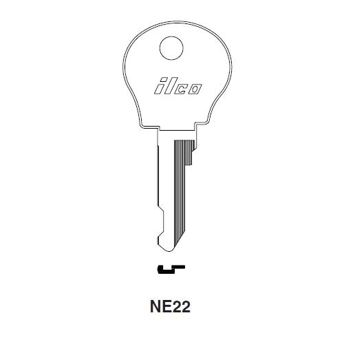Ilco NE22 Key Blank : Renault