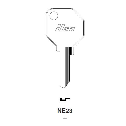Ilco NE23 Key Blank : Alfa Romeo, Fiat