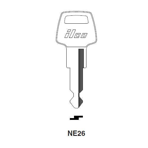 Ilco NE26 Key Blank : Simca, Tablot, Matra