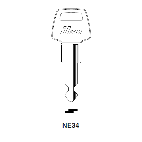 Ilco NE34 Key Blank : Simca, Tablot, Matra
