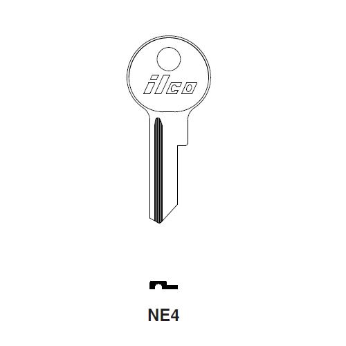 Ilco NE4 Key Blank : British Leyland, Lambretta, Peugeot