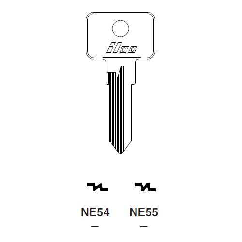 Ilco NE54 Key Blank : Fiat