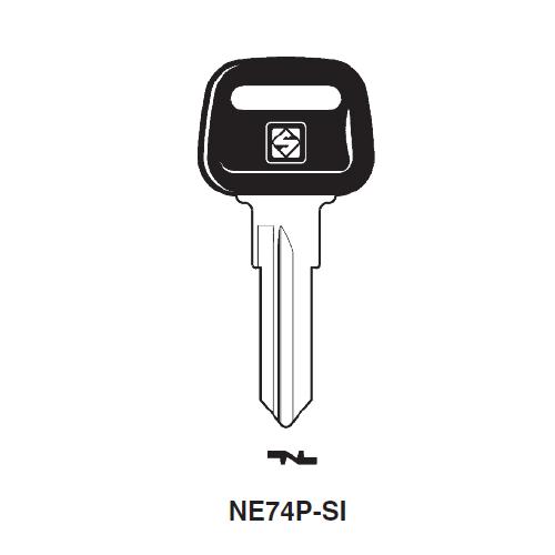 Ilco  NE74P-SI Peugeot Motorcycle Plastic Head Key Blank