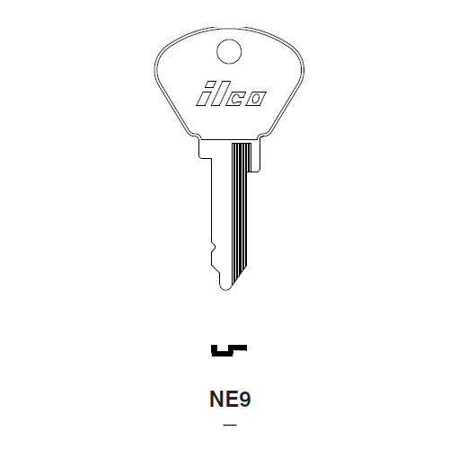 Ilco NE9 Key Blank : Fiat