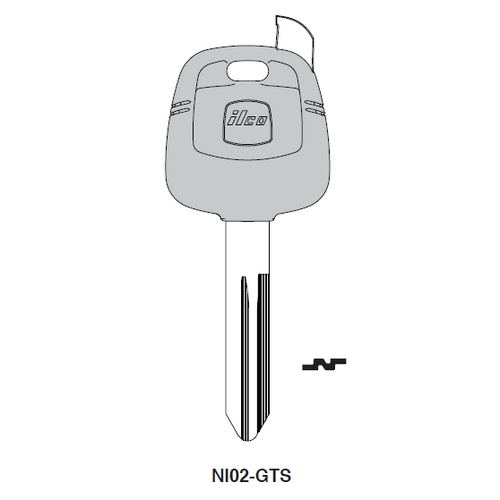 Ilco NI02-GTS Chipless Key Blank; NISSAN, INFINITI