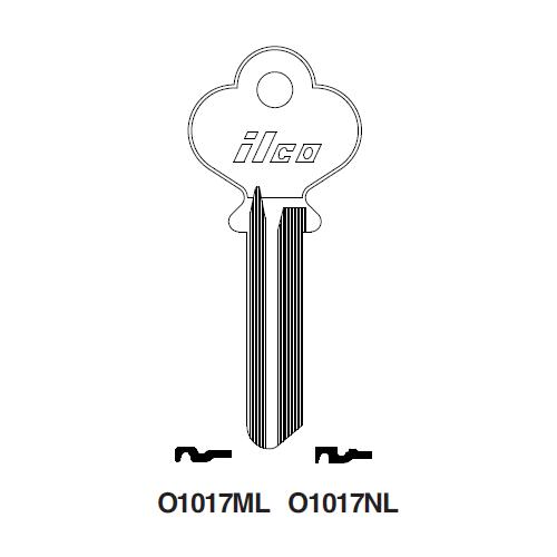 Ilco O1017ML Key Blank : Norwalk