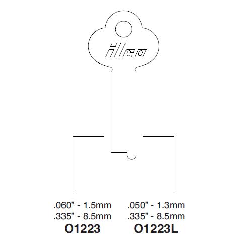 Ilco O1223 Key Blank : Yale