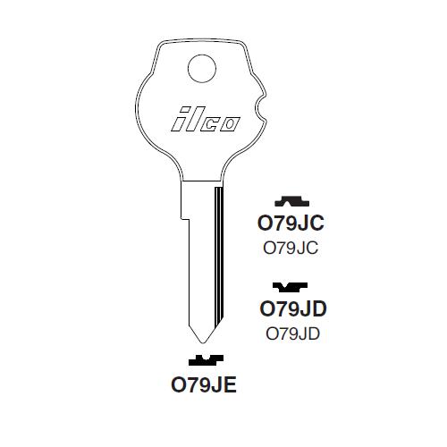 Ilco O79JC Key Blank : Opel