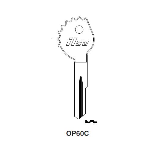 Ilco OP62C Key Blank : Opel, VW
