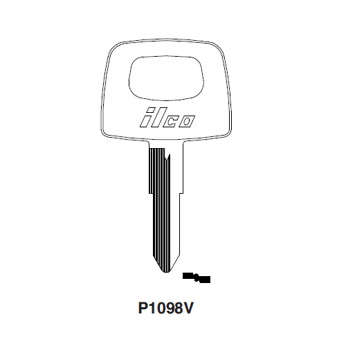 Ilco P1098V (LUV1) Key Blank : General Motors, General Motors International