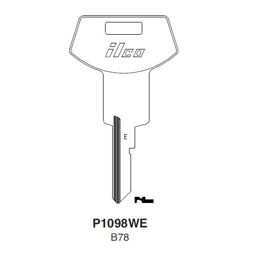 Ilco P1098WE, B78-P (B78) Key Blank : General Motors