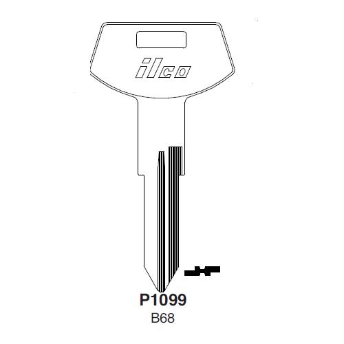 Ilco P1099, B68-P (B68) Key Blank : General Motors