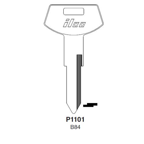 Ilco P1101, B84-P (B84) Key Blank : General Motors