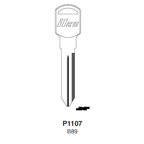 Ilco P1107, B89-P (B89) Key Blank : General Motors