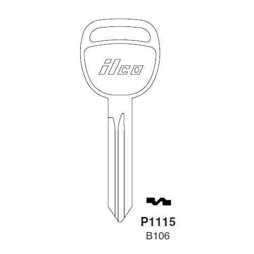 Ilco P1115, B106-P, B106 Key Blank