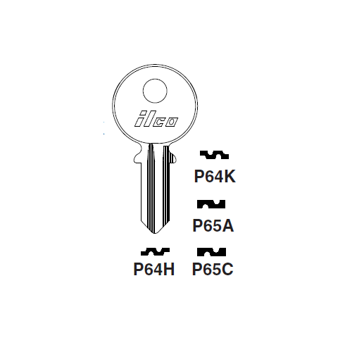 Ilco P65A Key Blank : Panhard