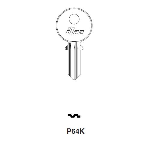 Ilco P64K Key Blank : Panhard, Renault