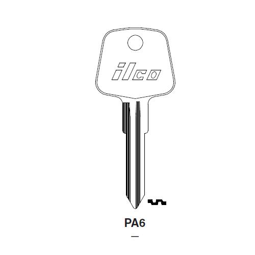 Ilco PA6 Key Blank : Audi
