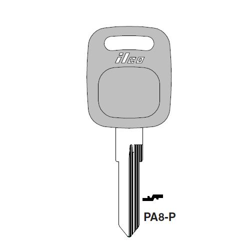 Ilco  PA8-P Vw Plastic Head Key Blank; ( X88 )
