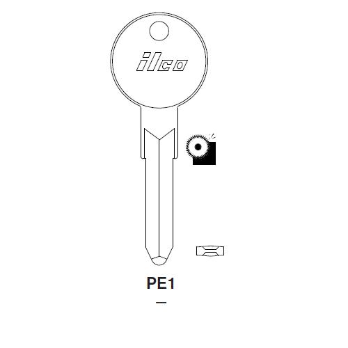 Ilco PE1 Key Blank : BMW