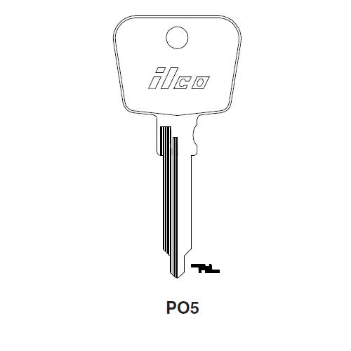 Ilco PO5 Key Blank : Porsche