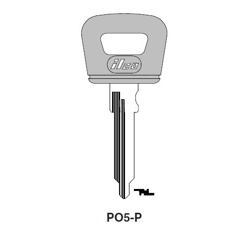 Ilco  PO5-P Porsche Plastic Head Key Blank; ( PO5 )