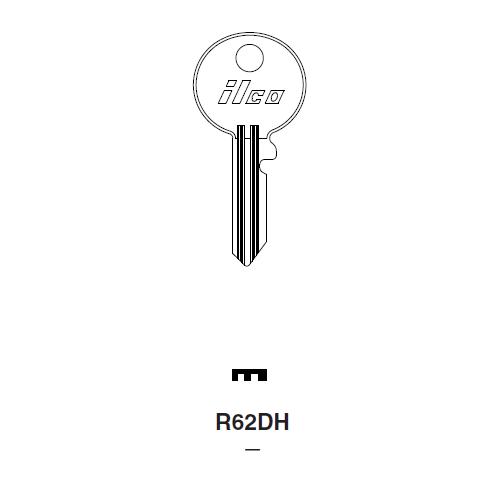 Ilco R62DH Key Blank : Audi, B.S.A.