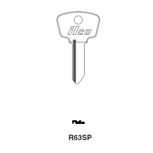 Ilco R63SP Key Blank : Alfa Romeo