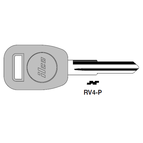Ilco  RV4-P Rover Plastic Head Key Blank; ( RV4,  X239 )