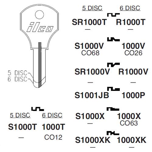 Ilco R1000T Key Blank : CCL - 8658-JL