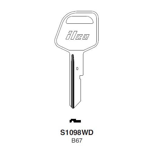 Ilco S1098WD (B67) Key Blank : General Motors