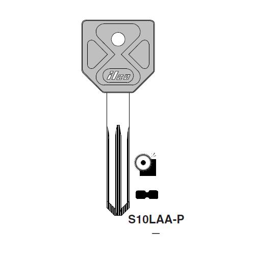 Ilco  S10LAA-P Alfa Romeo Plastic Head Key Blank