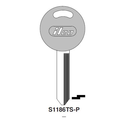 Ilco  S1186TS-P Ford Plastic Head Key Blank; ( H56,  S1186TS )