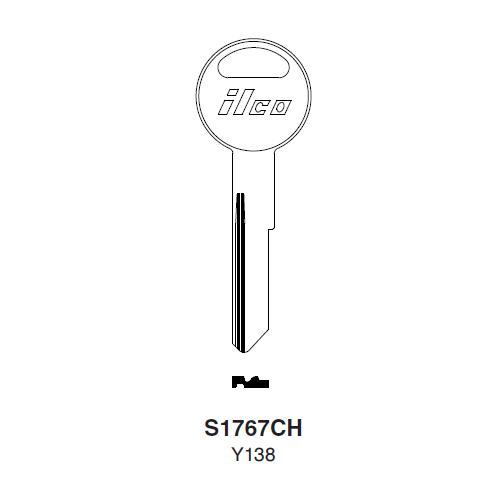 Ilco S1767CH (Y138) Key Blank : Chrysler