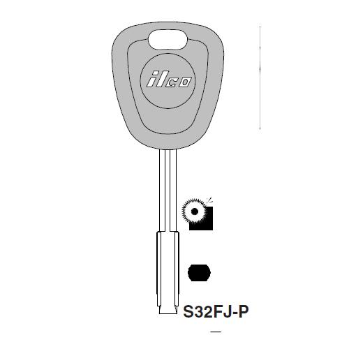 Ilco  S32FJ-P Ford International, Jaguar Plastic Head Key Blank