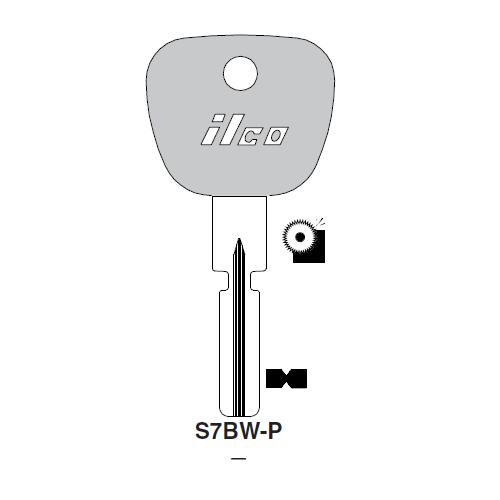 Ilco  S7BW-P BMW Plastic Head Key Blank