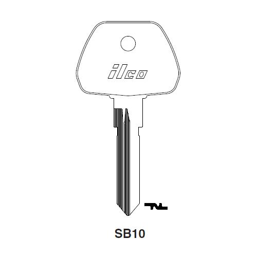 Ilco SB10 Key Blank : Saab