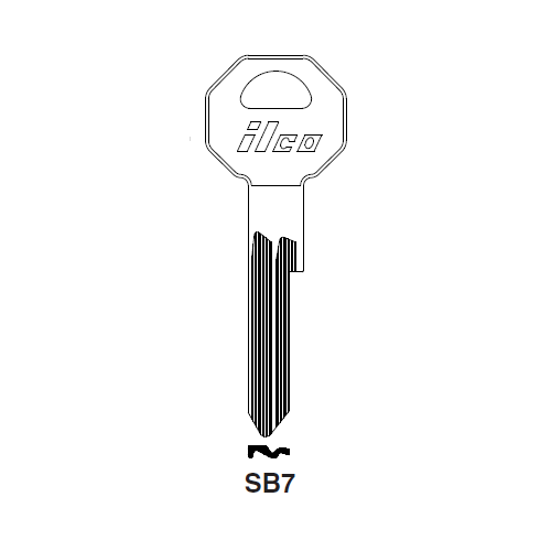 Ilco SB7 Key Blank : Saab
