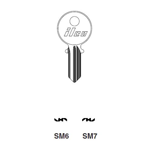 Ilco SM7 Key Blank : Simca, Tablot, Matra