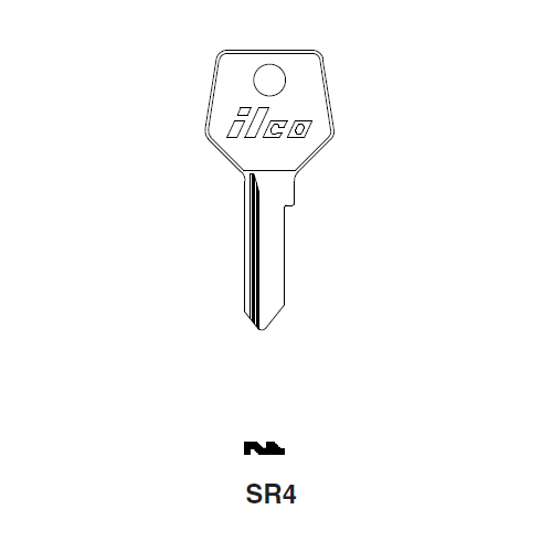 Ilco SR4 Key Blank : Strebor