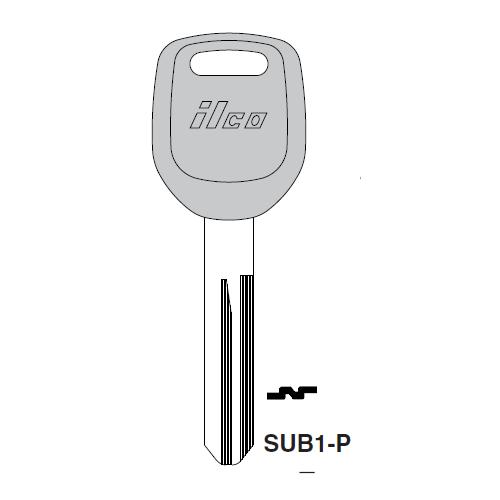 Ilco  SUB1-P Subaru Plastic Head Key Blank; ( X251 )